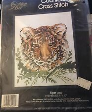 """Gold 00004000 en Bee Tiger Counted Cross Stitch 60400 8""""x10"""""""