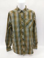 ARC'TERYX Men's Brown Gray White Plaid Long Sleeve Casual Shirt Size XL