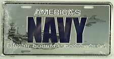 AMERICA'S NAVY LICENSE PLATE Embossed Aluminum NEW Armed Forces USN Car Truck US