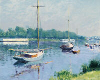 Lake Argenteuil Gustave Caillebotte Wall Art Print Canvas Painting Giclee Small