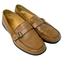 RALPH LAUREN POLO Mens Casual Dress Shoes Brown Leather Loafers Size 12D Slip On