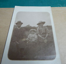 early 20th century real photo of Mother father and 1 year old baby Neston Ao1