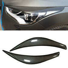 2pcs For Hyundai Veloster 2011-17 Carbon Fiber Headlight Eyebrows Eyelids Trim