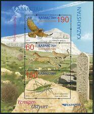 Kasachstan Kazakhstan 2013 Greifvogel Wildkatzen Insekt Bird Insect Block MNH