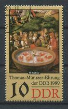 DDR ABART 3270 DD MÜNTZER 1989 DOPPELDRUCK!! ERROR DOUBLE PRINT!!! a5395