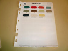 1966 Kaiser Jeep Acme Color Chips