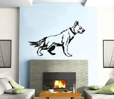 Wall Sticker Vinyl Decal Dog Shepherd Animal Mural Urban Art z358