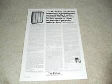 Fisher Xp-10 Speaker Ad, 1964, Article, Specs, Info