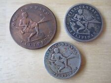 3 Coin Lot:  1903 & 1945 Five Centavos, 1944 One  Centavo Filipinas (U.S.)