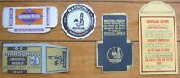 Collection of Five Different Early Phonograph Needle Packages & Labels