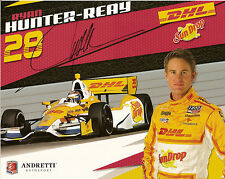 2012 RYAN HUNTER-REAY signed INDIANAPOLIS 500 HERO PHOTO CARD INDY CAR DHL CHEVY