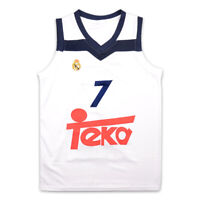 Luka Doncic 7 Real Madrid White Basketball Jersey Stitch Dallas Sewn FREE SHIP