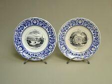 BORDEAUX VIEILLARD x2 ASSIETTE XIXème, CHATEAU du MEDOC, MARGAUX & LEOVILLE