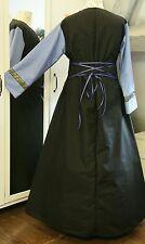 Mittelalter Kleid Gewand LARP Gothic  Gr.46 48 50 mit Schnürung schwarz blau