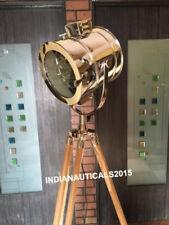 Nautical Studio Light Teak Tripod Floor Lamp Search Light Marine Floor Lamp