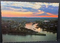 Vintage Postcard Germany Koblenz a Rhein Das Deutsche Eck