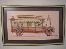 Vintage Circus Popcorn Wagon Folk Art Painting George DaDeppo Illustration