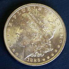 $ 1886 MORGAN SILVER DOLLAR - CH. BRILLIANT UNC.  HIGH GRADE - PHILADELPHIA MINT