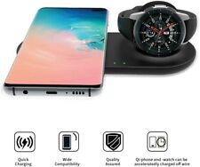 2 in 1 Wireless Charger Duo, Fast Charge Stand&Pad, Universally with Qi Free Shi