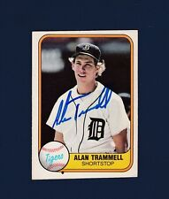 Alan Trammell signed Detroit Tigers 1981 Fleer baseball card