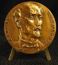 Médaille Sir Richard Wallace 1st Baronet art collector par Boyer 167g 68mm Medal