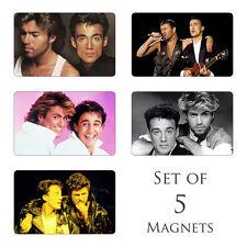 Wham George Michael Fridge Magnets Set of 5 Everything She Wants I'm Your Man