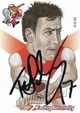 ✺Signed✺ 2005 SYDNEY SWANS AFL Premiers Card TADHG KENNELLY Weg