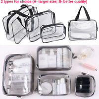 Clear Transparent Plastic PVC Travel Cosmetic Make Up Toiletry Zipper Bags Pouch