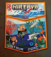 WIATAVA OA LODGE 13 ORANGE COUNTY 2018 NOAC SURFER FISH 2-PATCH MINECRAFT TOUGH!