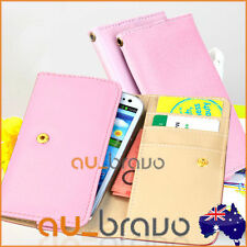 Synthetic Leather Universal Glossy Mobile Phone Wallet Cases