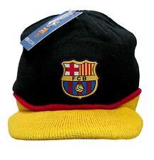 Fc Barcelona Beanie Visor Official Licensed Black