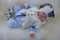 PRINTED PAPER KNITTING PATTERN TO MAKE ****LAMBKINS**** FOR BABY OR REBORN DOLLS