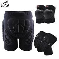 Cycling Hip Protective Padded Shorts Guards MTB Inner Pants Bike Knee Elbow Pads