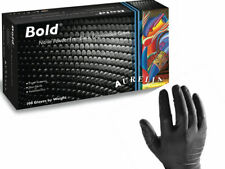 AURELIA BOLD STRONG BLACK NITRILE Gloves 100 200 300 4000 Mechanic Tattooist