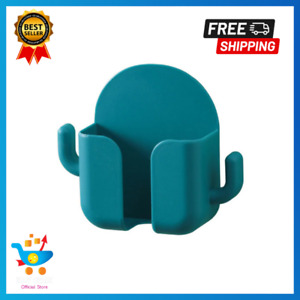 Home Wall Mounted Organizer Remote Control Phone Holder Plug  Stand Storage Case