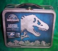 NEW JURASSIC WORLD BLU RAY & DVD LIMITED COLLECTIBLE TIN METAL LUNCHBOX GIFTSET