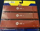 ATHEARN HUB GROUP 53' CONTAINERS. 3-PACK. #26527. HO SCALE.
