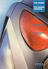 Fiat Marea Specification 2001-02 UK Market Brochure Saloon Weekend SX ELX HLX