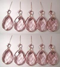 "10 PINK 2""TEARDROP CHANDELIER CRYSTALS SUNCATCHER were $26.95"