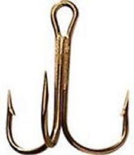 SNAGGING BARBLESS BRONZE TREBLE HOOK 24 COUNT OF SIZE 8//0 FISHING HOOKS