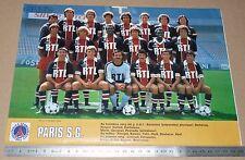 CLIPPING POSTER FOOTBALL 1980-1981 PARIS SAINT-GERMAIN PSG PARC DES PRINCES
