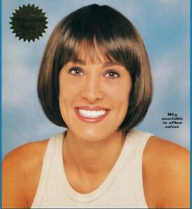 Sassy Brown Wig Short Bangs Bob Cropped Blunt Flapper Egyptian Halloween NEW!