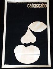 1970 Cuban Original Movie Poster.Plakat.Cabascabo.Africa.Nigeria art film.Rare!