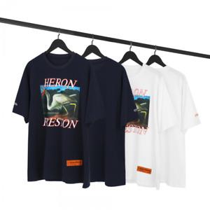 Unisexe Heron Preston Crane 3D Tshirt Hip Hop Pullover Top Men&wome Oversized