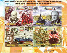2004 D-Day 60th Anniversary, FDR, Ike - 4 Stamp  Sheet 19B-179