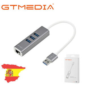 3 Puertos USB 3.0 Gigabit Ethernet Lan RJ45 Adaptador de red Hub a 1000Mbps ES