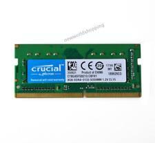 Crucial 8 Гб 1RX8 DDR4-2133 PC4-2133P 1.2 В CL15 SO-DIMM память для ноутбука Ram Intel $