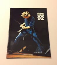 "BRYAN ADAMS  92 Concert Tour Program 12"" x 9"""