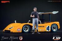 1:18 Bruce McLaren figurine VERY RARE !!! NO CARS !! for diecast cars by SF
