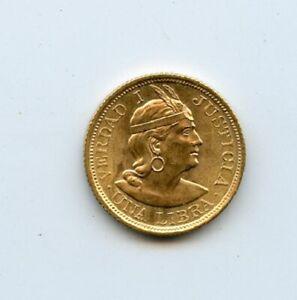 1968 Republic of Peru 1 Libra Gold Coin